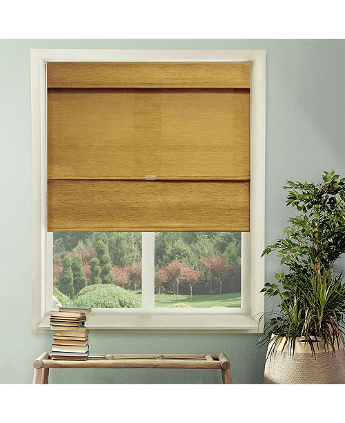 "Chicology Cordless Magnetic Roman Shades, Privacy Fabric Window Blind, 27"" W x 64"" H"