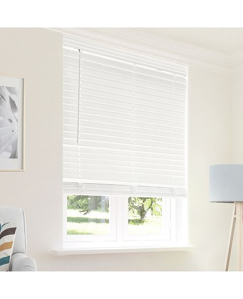 "Chicology Cordless Faux Wood Blinds, 64"" W x 48"" H"
