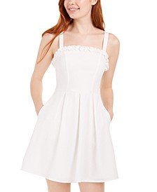 Juniors' Bow-Back Ruffled Dress