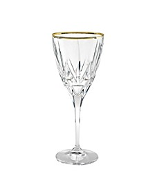 Chic White Wine with 24K Trim Goblets - Set  of 6