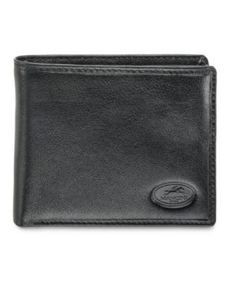 Men Wallet Black Leather Zipper Trifold Coin Pocket ID Credit Card Safe NEW