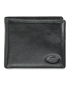 Equestrian2 Collection RFID Secure Center Wing Wallet with Zippered Coin Pocket