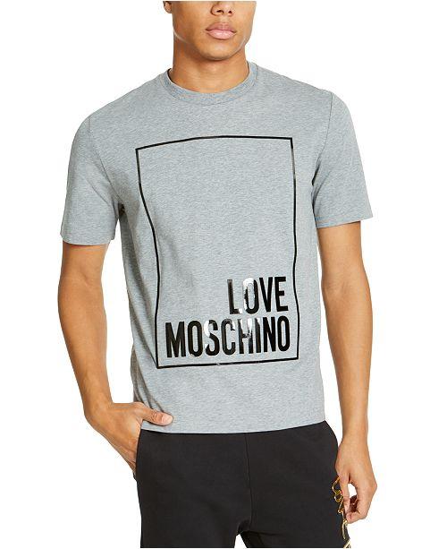 Love Moschino Men's Box Logo Graphic T-Shirt