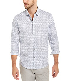 Men's Classic-Fit Geo-Stripe Shirt, Created For Macy's