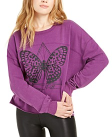 Juniors' Butterfly Graphic Sweatshirt