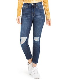 Juniors' High-Rise Slim Straight-Leg Jeans