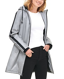 Women's Reflective Long Coaches Jacket with Soft Sherpa Lining