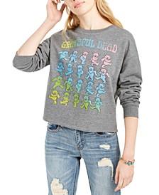 Juniors' Grateful Dead Cropped Graphic Sweatshirt