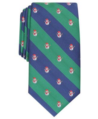 Tommy Hilfiger Mens Snowman Stripe Self-Tied Bow Tie