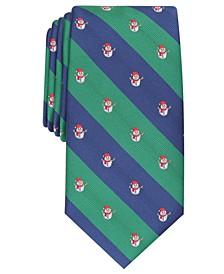 Men's Classic Snowman Stripe Tie, Created For Macy's