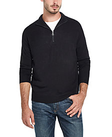 Weatherproof Vintage Men's Soft Touch Quarter-Zip Sweater