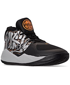 Little Boys Team Hustle D 9 Graphic Stay-Put Closure Basketball Sneakers from Finish Line