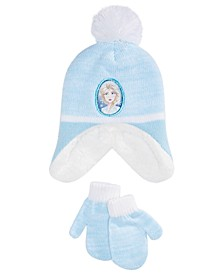 Toddler Girls 2-Pc. Elsa Hat & Mittens Set