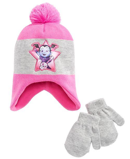 Vampirina Toddler Girls 3-Pc. Vampirina Pom Pom Hat & Mittens Set