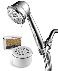 AquaCare By Hotel Spa 7-Setting Filtered Handheld Shower Head
