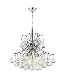 Empire 6-Light Chrome Finish and Clear Crystal Chandelier