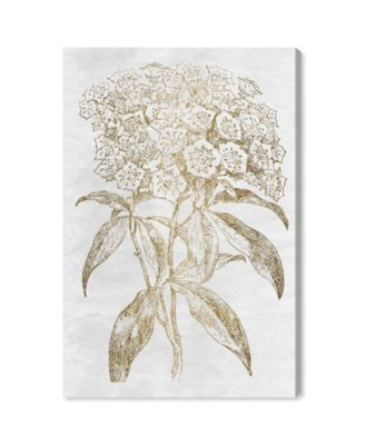 Floral Sketch Gold Canvas Art, 24