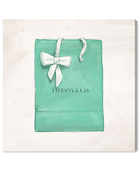 """Oliver Gal Jewelry Shopping Bag Canvas Art, 24"""" x 24"""""""