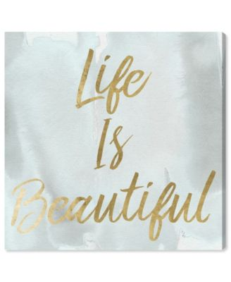 Life Is Beautiful Smokey Canvas Art, 12