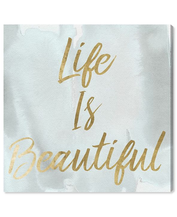 "Oliver Gal Life Is Beautiful Smokey Canvas Art, 12"" x 12"""
