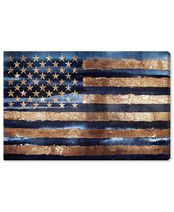 "Oliver Gal Rocky Navy Freedom Canvas Art, 24"" x 16"""
