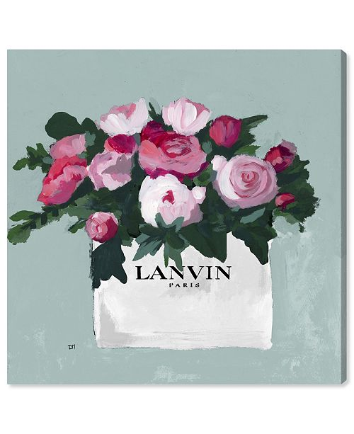 "Oliver Gal Pink and Mint Bouquet Canvas Art, 16"" x 16"""