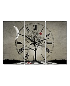"Inevitable Large Cottage 3 Panels Wall Clock - 23"" x 23"" x 1"""