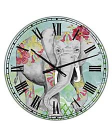 "Safari Dancer Large Cottage Wall Clock - 36"" x 28"" x 1"""