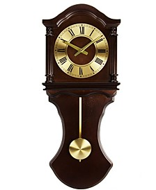 Clock Collection Wall Clock with Pendulum and Chimes