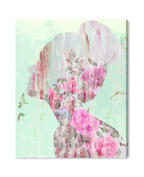 "Oliver Gal Birds in Her Head Canvas Art, 20"" x 24"""