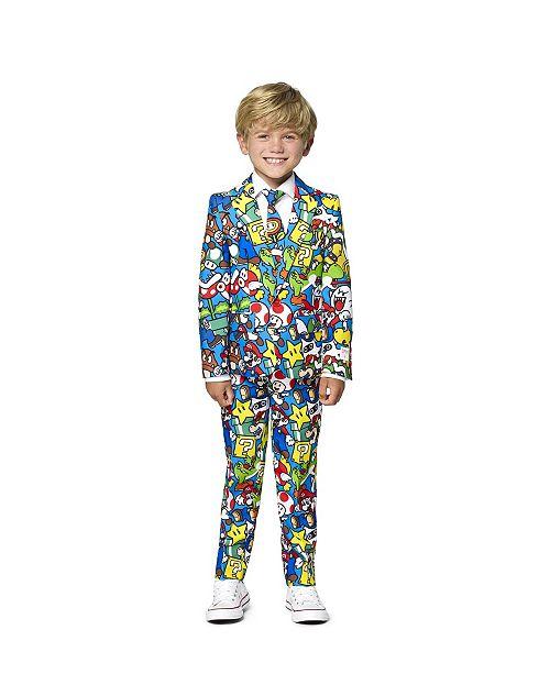OppoSuits Little Boys Super Mario Licensed Suit