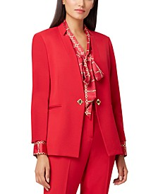 Petite Notched-Collar Single-Button Blazer
