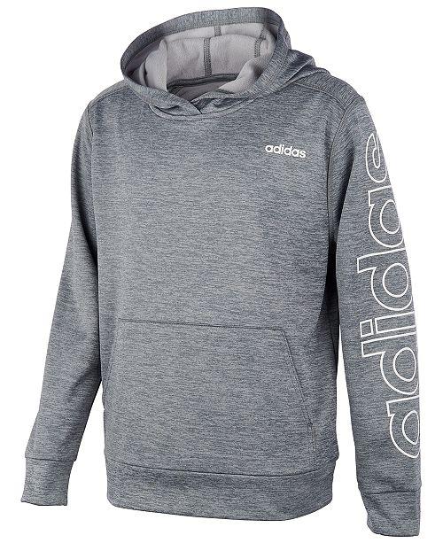 adidas fleece hoodie black