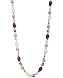 """Gold-Tone Crystal & Stone 42"""" Strand Necklace"""