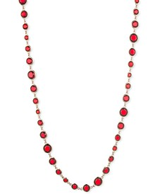 "Gold-Tone Stone 42"" Strand Necklace"