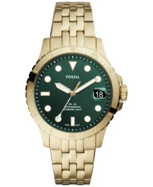 Women's Blue Diver Gold-Tone Stainless Steel Bracelet Watch 36mm