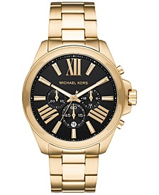 Men's Chronograph Wren Gold-Tone Stainless Steel Bracelet Watch 44mm