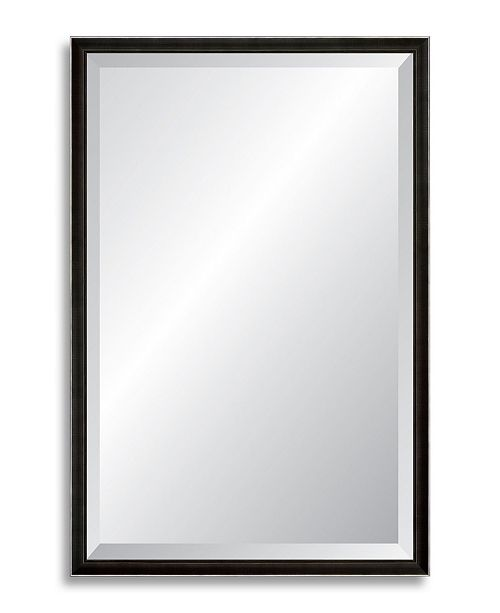 """Reveal Frame & Decor Reveal Main Line Pewter Beveled Wall Mirror - 24.25"""" x 37.75"""""""