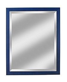 "Alpine Harbor Blue 27"" x 33"" Beveled Wall Mirror"