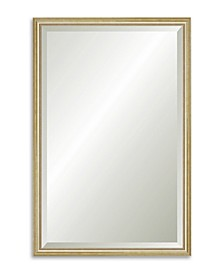 """Reveal Delicate Gold Leaf Beveled Wall Mirror - 25"""" x 38.5"""""""