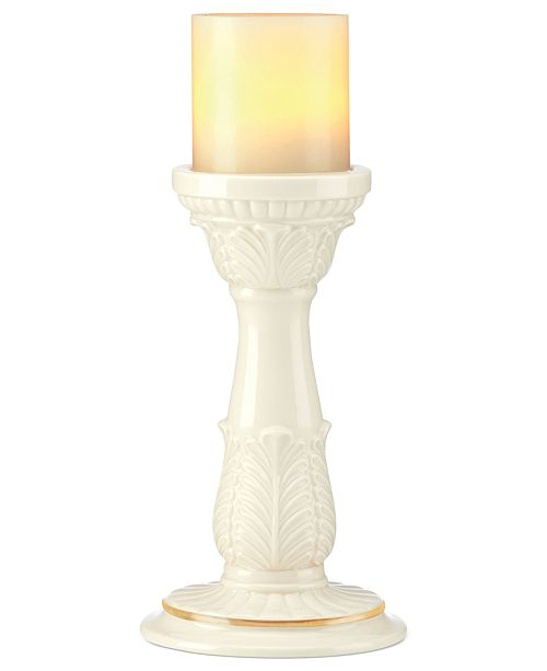 Lenox Candle Holder, Illuminate Leaf Pillar