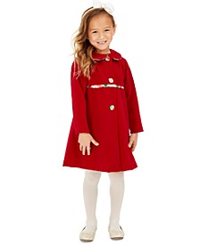 Toddler Girls 2-Pc. Plaid Dress & Velvet Jacket Set
