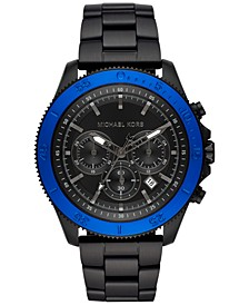 Men's Chronograph Cortlandt Sport Black Ion-Plated Stainless Steel Bracelet Watch 45mm