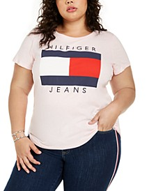 Plus Size Cotton Logo T-Shirt, Created for Macy's