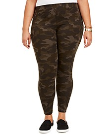 Plus Size Camo Daze Printed Leggings, Created for Macy's