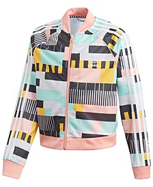 Big Girls Throwback TV Test Pattern Track Jacket