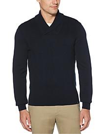 Men's Argyle Shawl-Collar Sweater