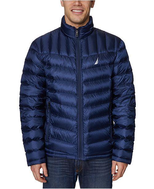 Nautica Men's Mini Ripstop Nylon Puffer Jacket