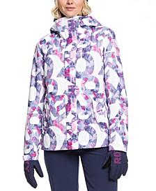Juniors' Jetty Printed Hooded Snowboard Jacket