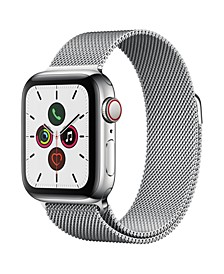 GPS + Cellular, 40mm Stainless Steel Case with Stainless Steel Milanese Loop